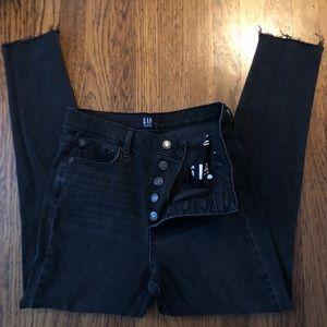 Gap skinny jeans in dark gray/light black